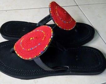 Maasai sandals/beaded sandals/African sandals