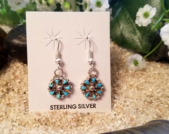 Zuni Turquoise Earrings by Trudy Kalestewa