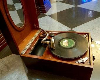 """gramophone """"Paillard"""" XIX century, Switzerland"""