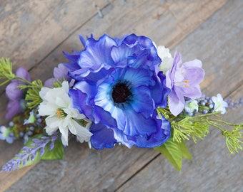 Wildflower Bridal Hair Comb, Silk Hair Flowers, Bridal Hair Accessories, Flower Hair Clip, Flower Hair Pin,  Boho Hair Pin