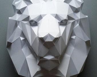 The Lion, papercraft, home decoration, paper animals,Lion kit, polygonal paper