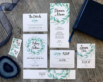 Garden Party Printable Floral Watercolor Wedding Stationery Suite