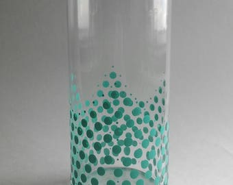 Dot Design Vase in Teal
