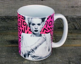 Bride of Frankenstein MUG coffee GOTH Monster Mania classic movies gifts for horror lovers boyfriend gift girlfriend gift monsters Wedding