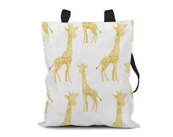 Giraffe Tote Bag. Hard-wearing Polyester Canvas Tote Bag.  Fully Lined Tote Bag.  Bag 4 Life. Market Bag. Shopping Bag. Book Bag.