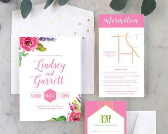 Bright + Bold Wedding Invitations