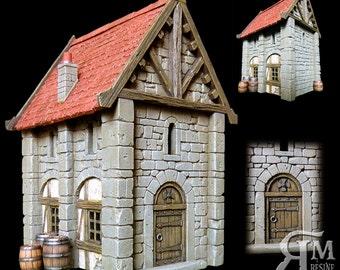 Medieval house 6 (ech 30mm, resin kit)