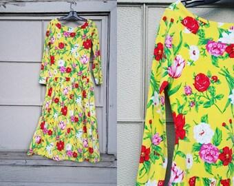 sunshine floral dress