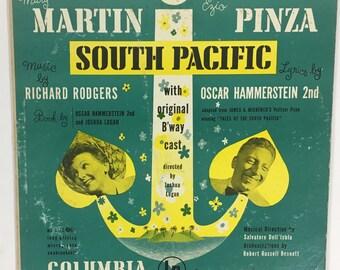 Vintage 1949 South Pacific With Original Broadway Cast Record Vinyl / Mary Martin and Ezio Pinza / Album No. ml 4180