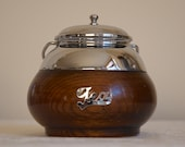 Vintage TEA CADDY in wood and metal, ideal for tea lovers