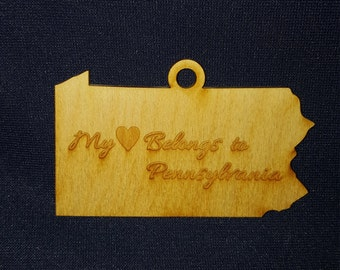 Pennsylvania My Heart Belongs state ornament
