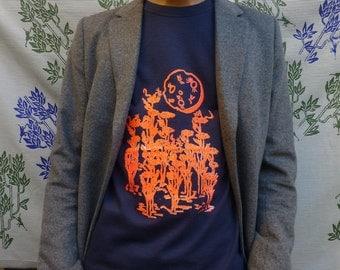 T-shirt sleeves short Catch the Moon silkscreen - M/F