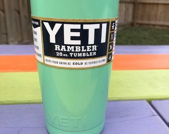 Yeti Light Green Powder Coated 20oz
