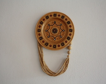 Boho Hangable Wooden Plate