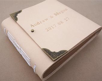 leather journal wedding journal personalized journal handmade journal custom journal guest book journal wedding guestbook wedding notebook