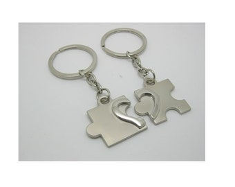 Key chain zinc puzzle love, gift, engraving