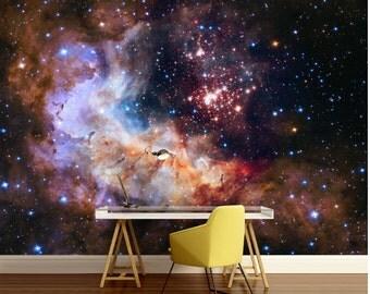 Galaxy wallpaper, wall mural stars, nebula wallpaper, star wallpaper, universe wallpaper, ceiling wall mural, universe ceiling, ceiling wall