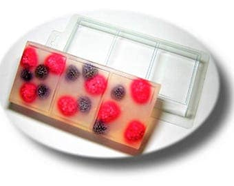 Clear Plastic Soap Mold for Cutting,3 Bars of Soap