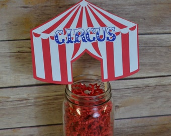 Carnival- Circus- Big Top Cake Topper- Big top tent- Carnival Party-Circus Party- Big top party- Circus tent- Carnival decorations- birthday