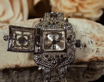 Antique Silver and Marcasite Bracelet Watch