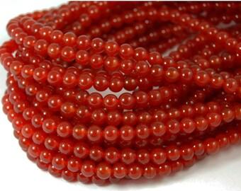 "Two 14.5"" strands Carnelian Beads 6mm"