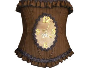 Clockwork Overbust Corset size customized