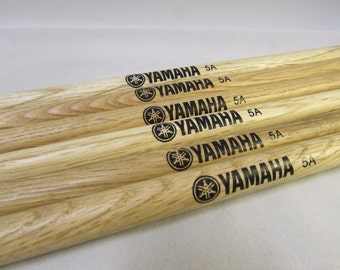 Yamaha 5A Wooden Drumsticks - Special Offers! (Personalisation Available)