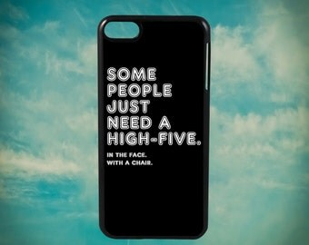 Some People Just Need A High Five Funny Quote for Apple iPod Touch 4th Generation, iPod 5th Generation and iPod 6th Generation iPod Case