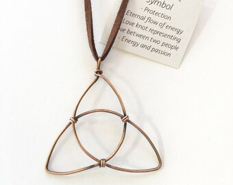 Copper Celtic Knot Symbol Pendant