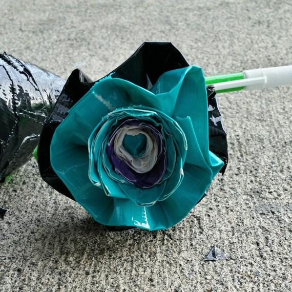 Duck tape rose pen