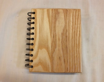 A6 Ash Hardwood Hardback Reusable Notebook