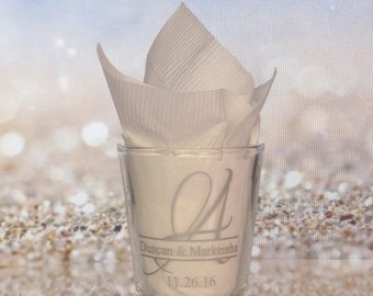 Personalized Wedding Shot Glasses - 120 Pieces - Custom Wedding Favors - New Wedding Favor Ideas