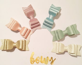 Pastel metallic leatherette clips
