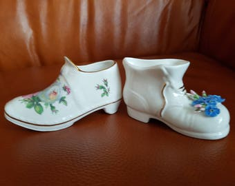Lot of 1 x Clog & 1 x Boot Porcelain