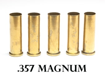 357 Magnum, Empty Shell Casings, Lot of 5 pieces