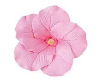 """Gumpaste Plumeria - Large - 3.50"""" diameter / Fondant Plumeria / Sugar Flower / Sugar Plumeria / Edible Flower"""