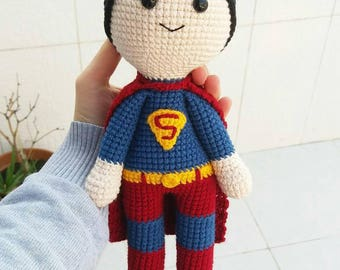 Superman Amigurumi Toy Superman Toy Crochet Toy Organic Toy