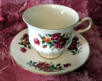 Queen Anne Tea Cup and Saucer - Pattern 8628