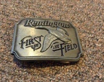 Remington flying duck belt buckle