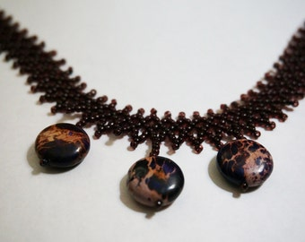 "Purple Magnesite Necklace - ""Thunder"""
