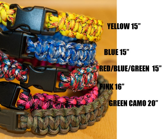 Paracord Dog Collar Various Colors/Lengths