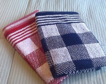 Set of 3 Terry Kitchen Towels,Vintage