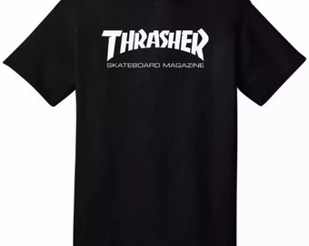 Thrasher Logo Custom Skateboard T-Shirt
