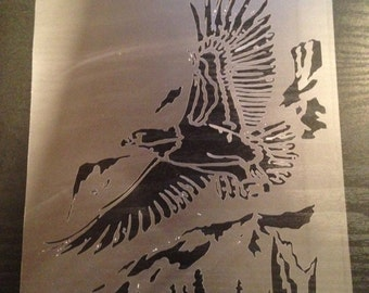 Eagle#2 Stencil (5mil Buy 2 Get 1 Free! Mix & Match)