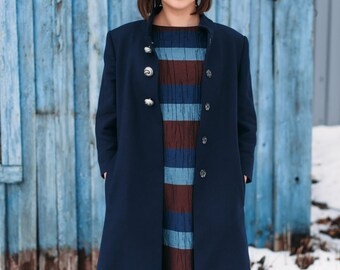 SALE -30%!!! Spring, autumn coat/vintage coat/A silhouette coat/ 3/4 sleeve coat