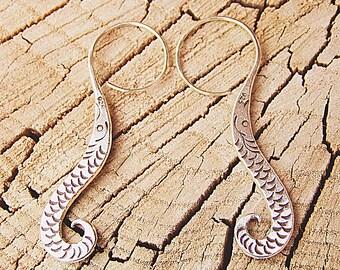 Silver earrings. Silver jewelry. Ethnic earrings. Ethnic jewelry.
