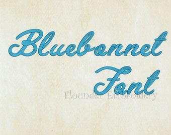 Bluebonnet Embroidery Font 5 Size Embroidery Designs Fonts INSTANT DOWNLOAD