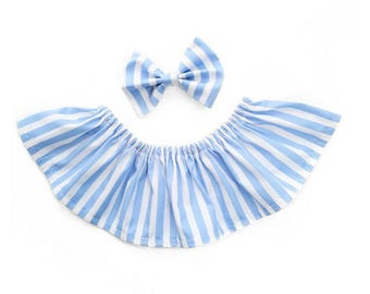Striped collar and Bow set