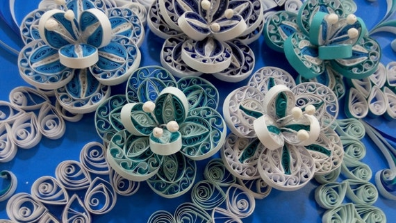 Paper Quilling Wall Art - Quilled  Flowers