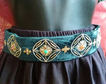Belt ethnic, belt party, belt embroidery, belt Velvet